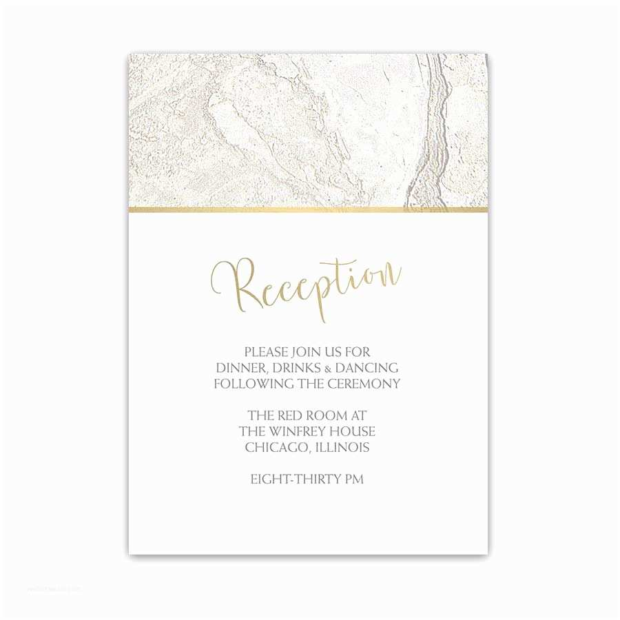 Wedding Invitations With Rsvp And Reception Cards Industrial Chic Wedding Reception Card Marble