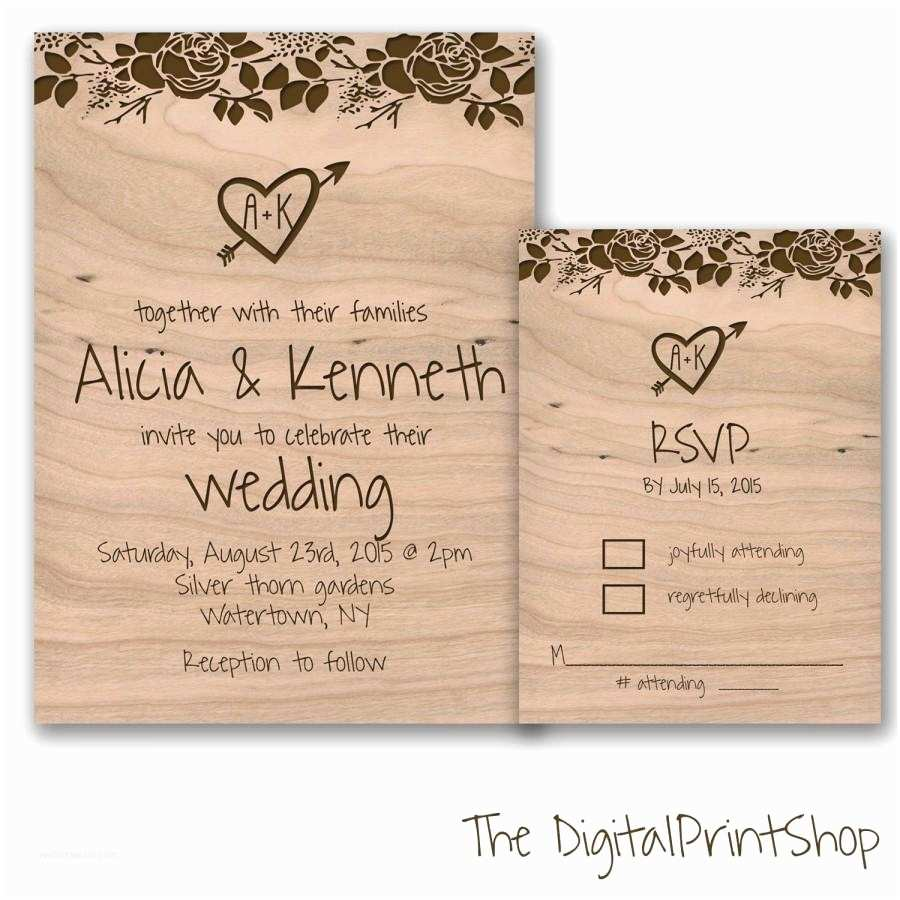 Wedding Invitations With Rsvp And  Cards Rustic Chic Wedding Invite Unique Wedding