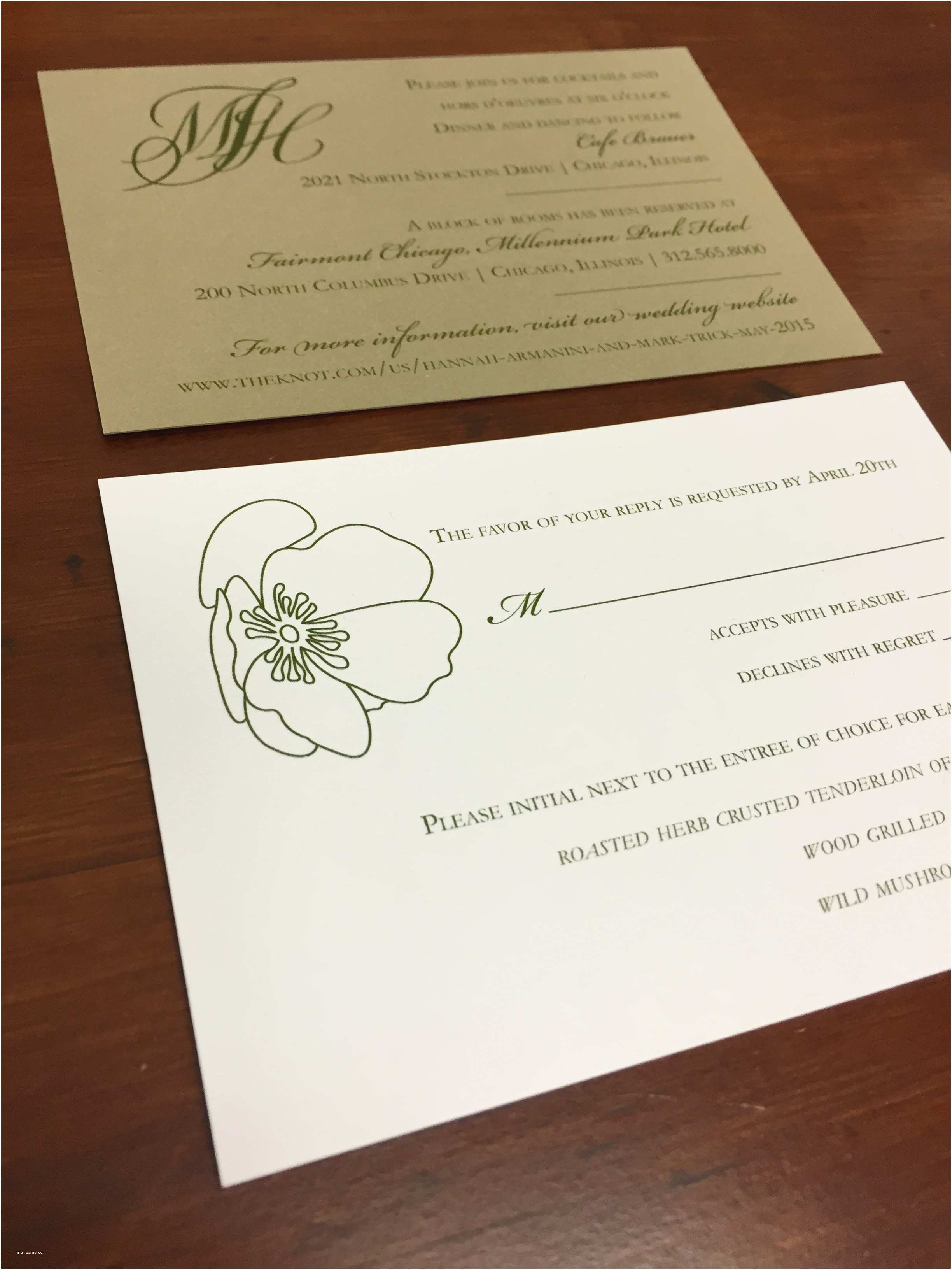 Wedding Invitations With Rsvp And Reception  Wedding Invitations With Rsvp And Reception