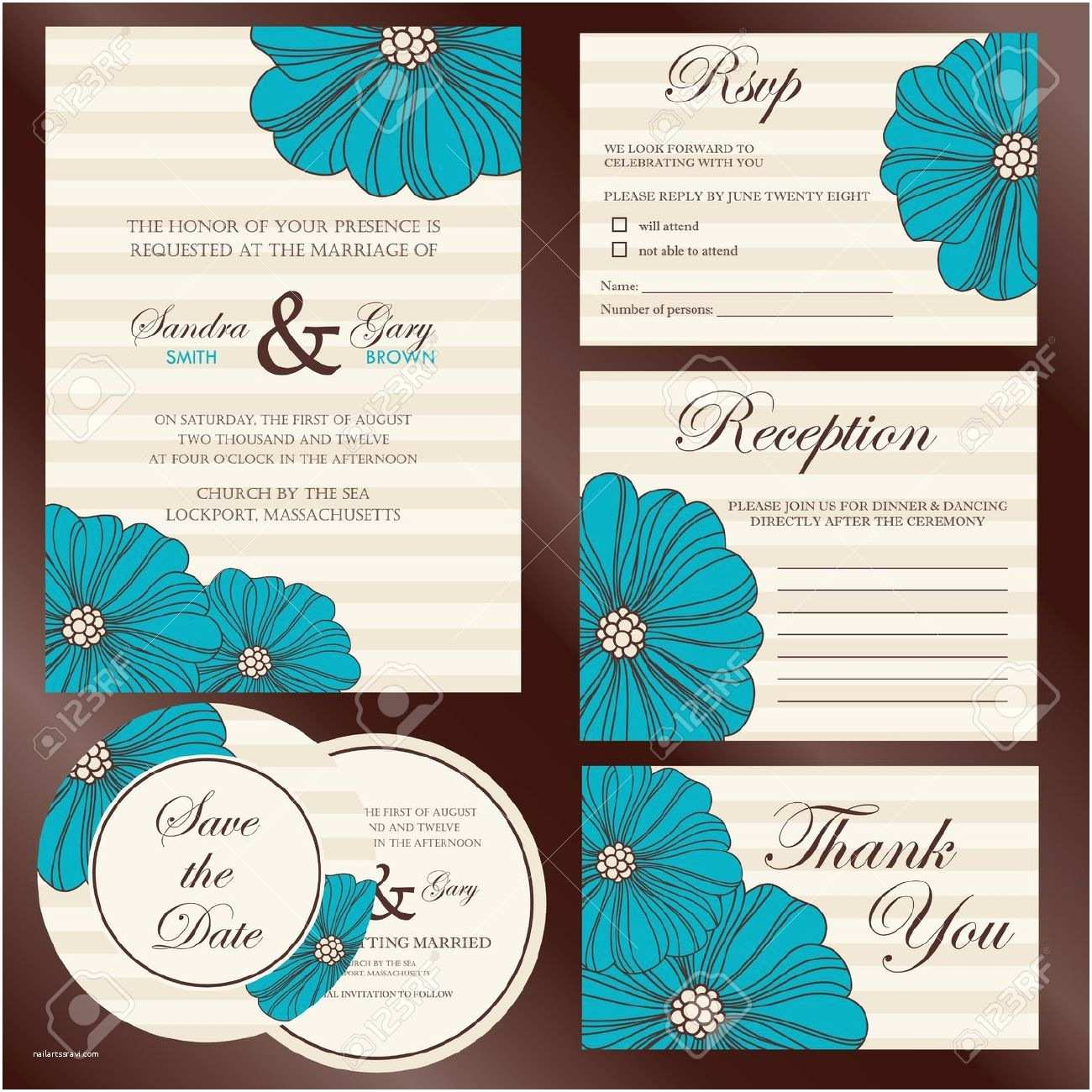 Wedding Invitations with Rsvp and Reception Cards Wedding Invitations with Rsvp and Reception Cards