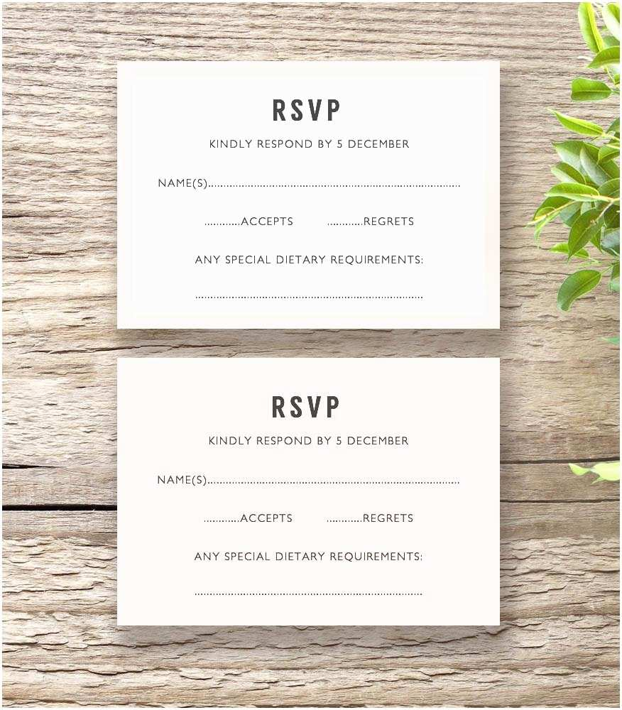 Wedding Invitations with Rsvp Bettie Printable Wedding Invitation Template Set Connie