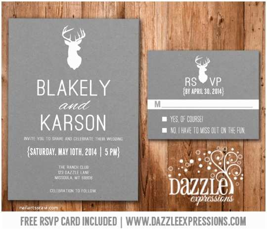 wedding invitations with rsvp cards included
