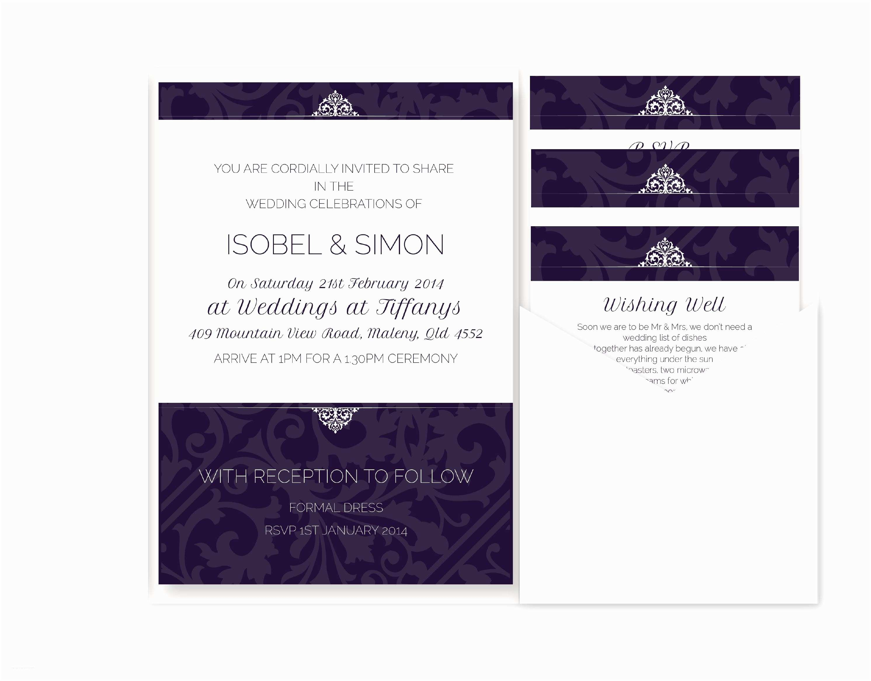 Wedding Invitations with Rsvp Cards Included Wedding Invitations with Rsvp Cards Included Wedding