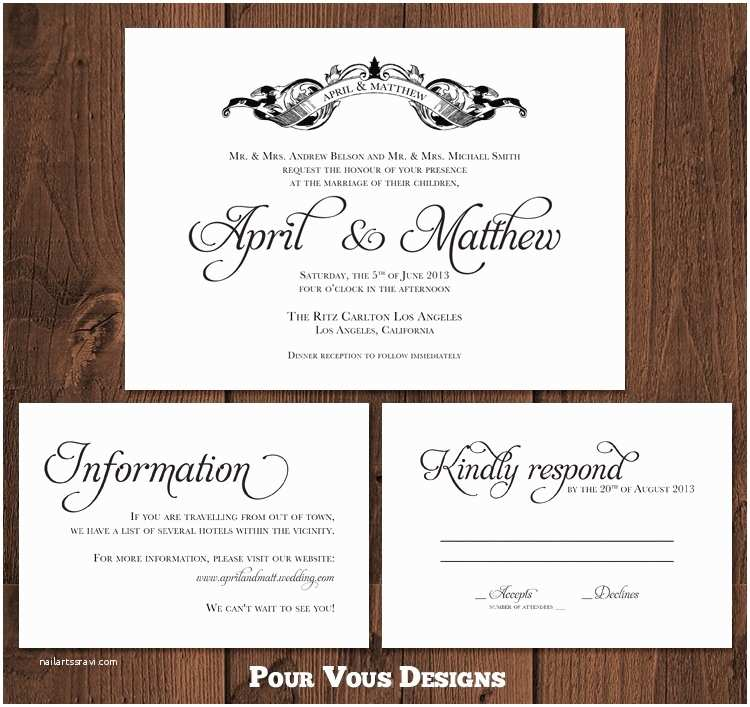 Wedding Invitations with Rsvp Cards Included Wedding Invitations Wording Rsvp