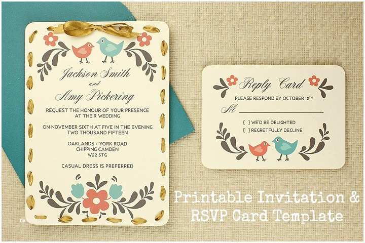 Wedding Invitations with Rsvp Postcard Diy Tutorial Free Printable Invitation and Rsvp Card