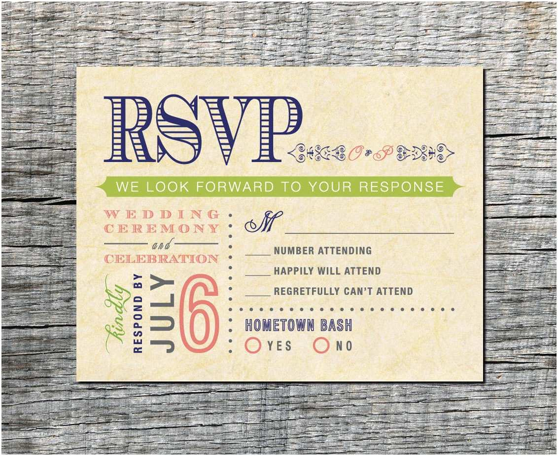 Wedding Invitations with Rsvp Postcard Vintage Wedding Rsvp Postcard Double event Respond Card