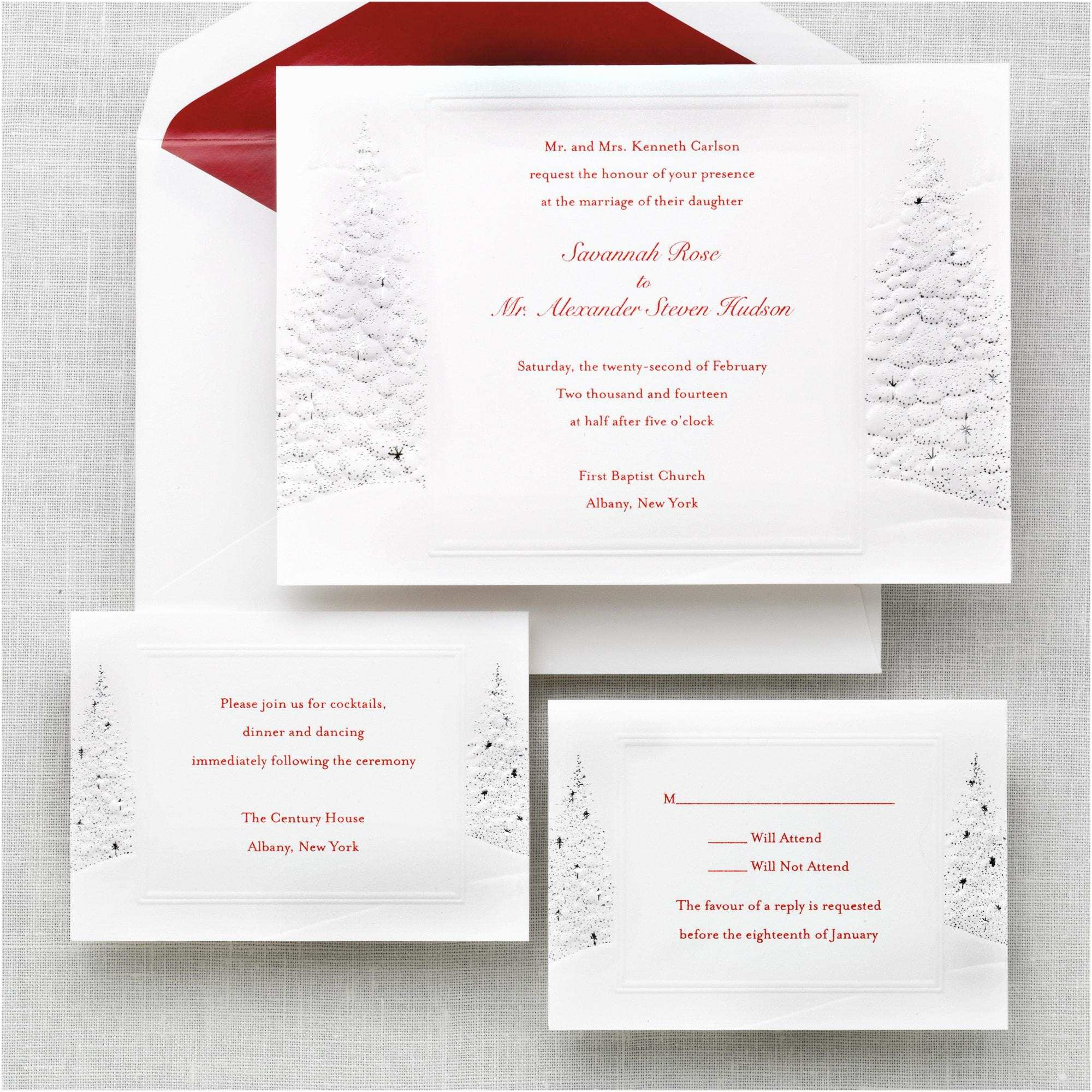 wedding invitations response cards