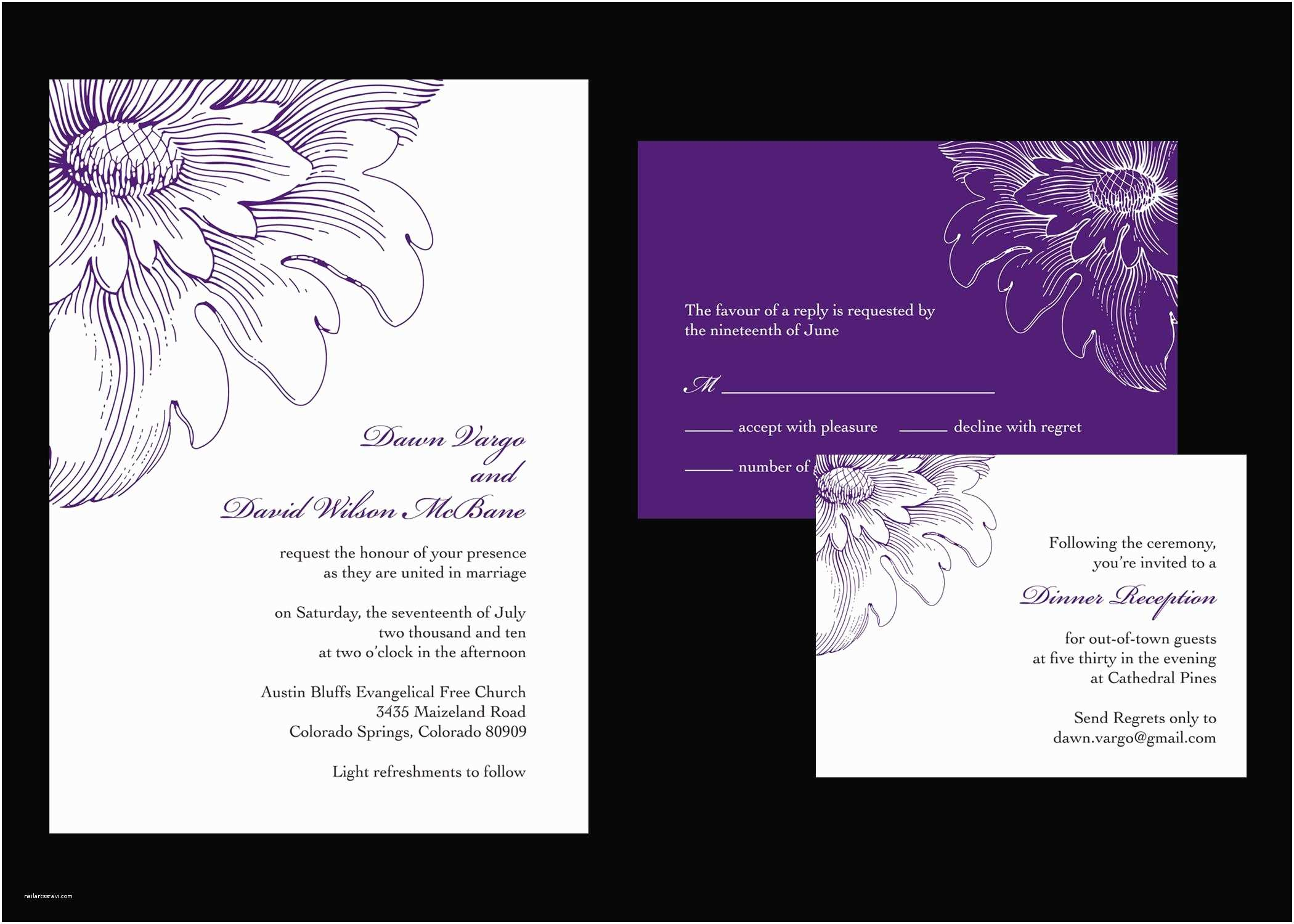 Wedding Invitations with Rsvp Wedding Invitation Wedding Invitations and Response