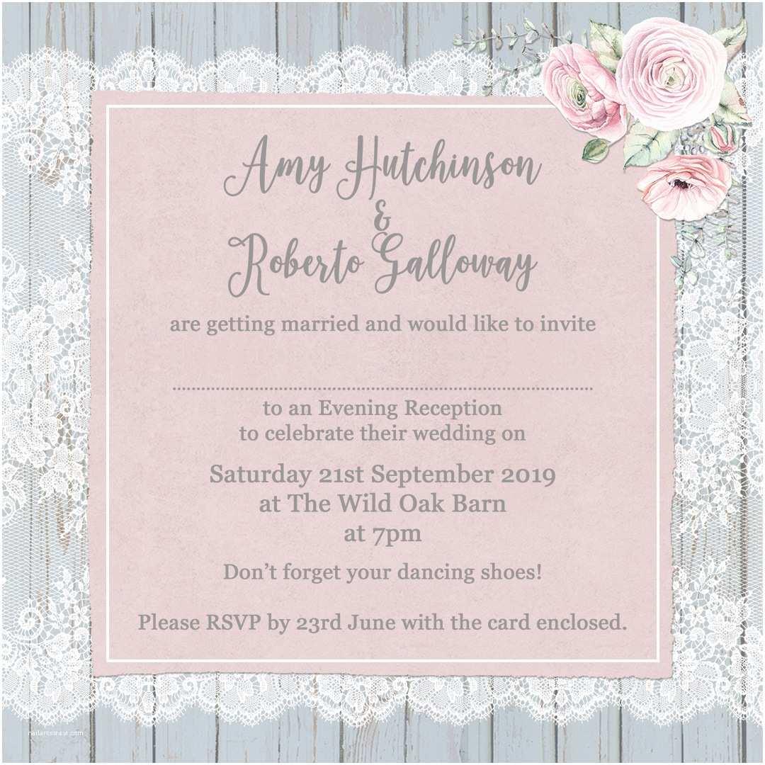 invitation wording evening