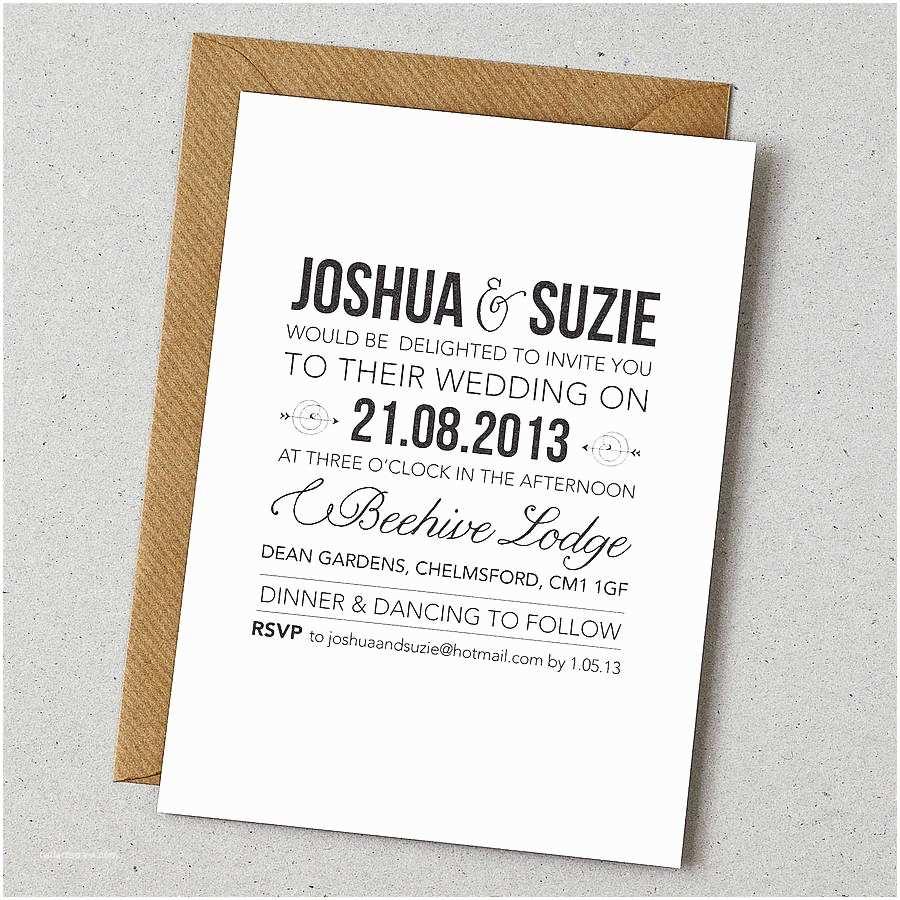 Wedding Invitations Wording Rustic Style Wedding Invitation by Doodlelove
