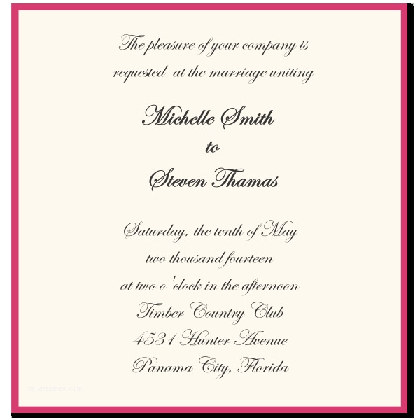 Wedding Invitations Wording Wedding Invitation Wording Samples Template