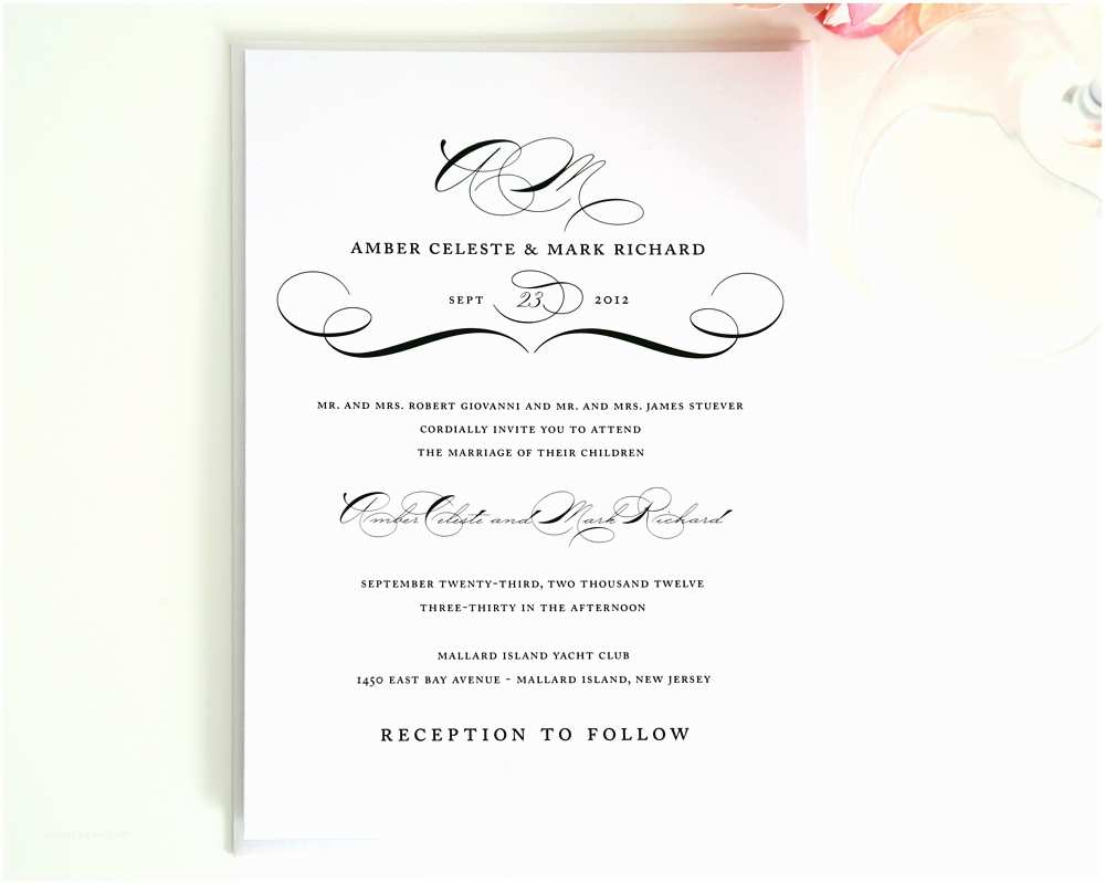 Wedding Invite Directions Template 20 Contemporary Wedding Invitation Examples