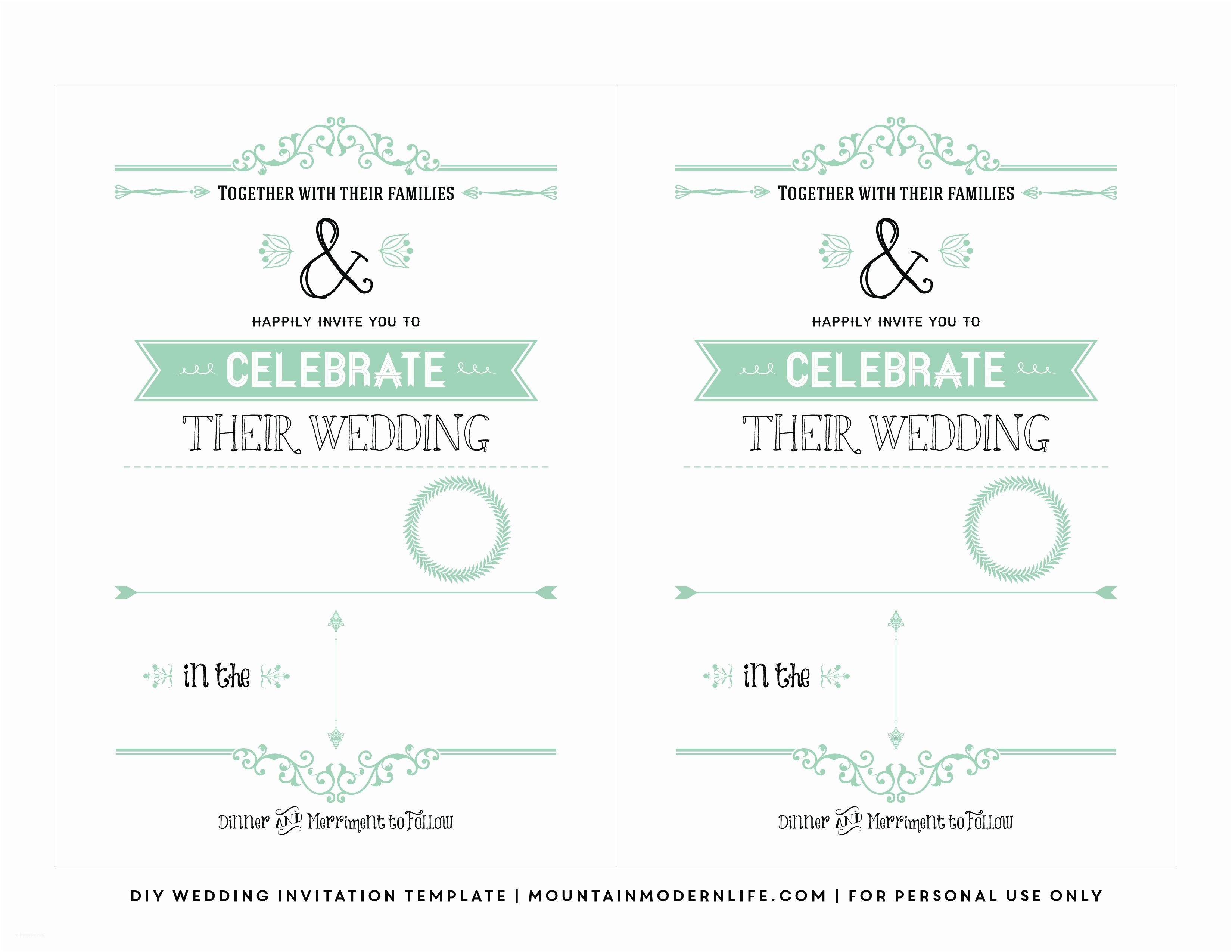 Wedding Invite Directions Template Free Wedding Invitation Template