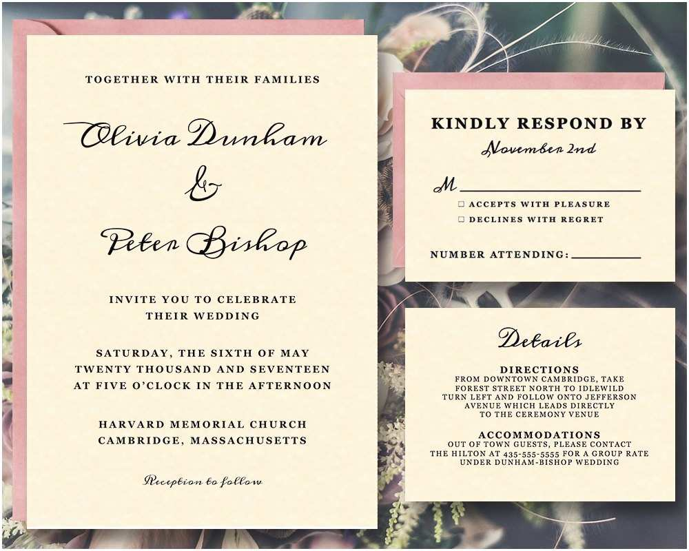 Wedding Invite Directions Template Off Printable Invitation Suite