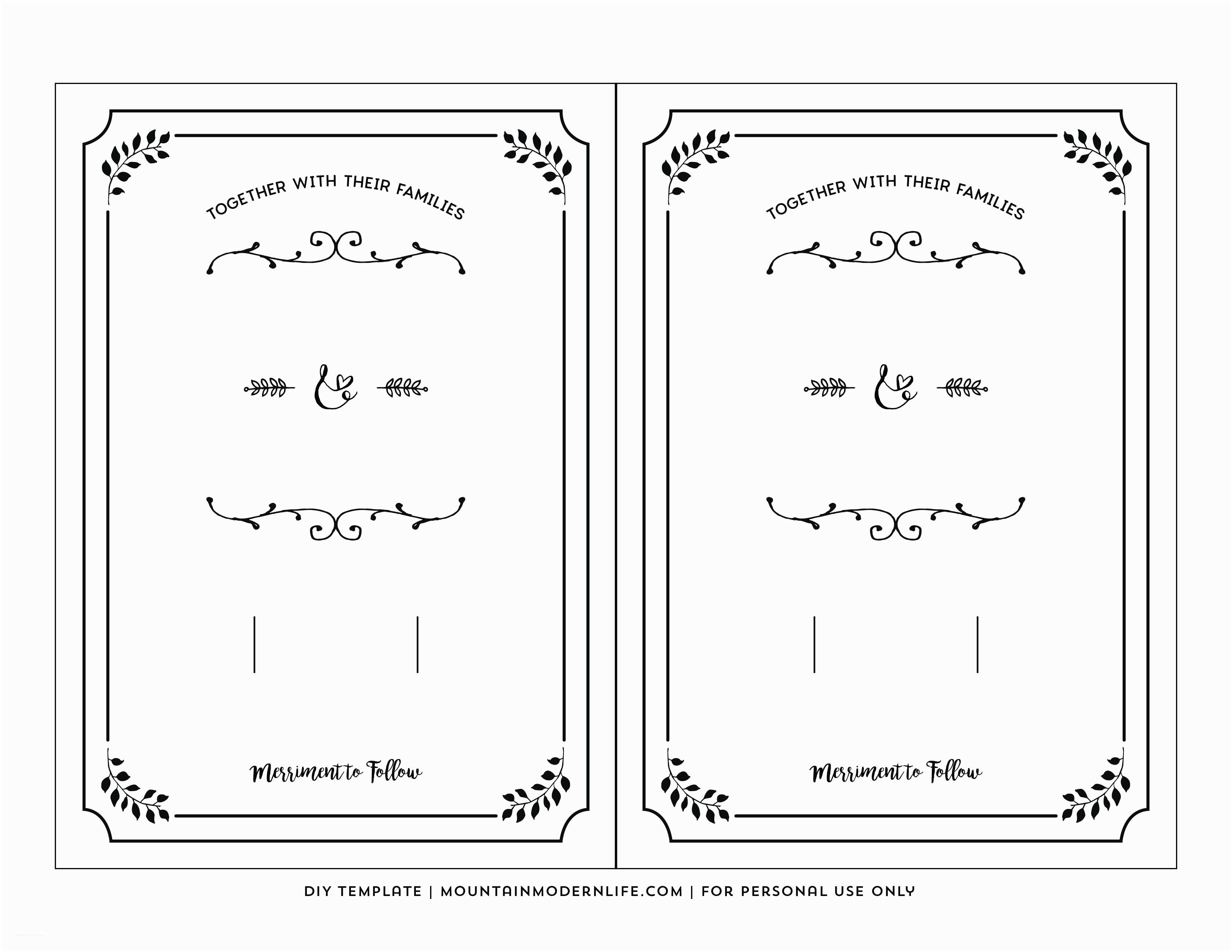 Wedding Invite Directions Template Printable Wedding Invite Templates