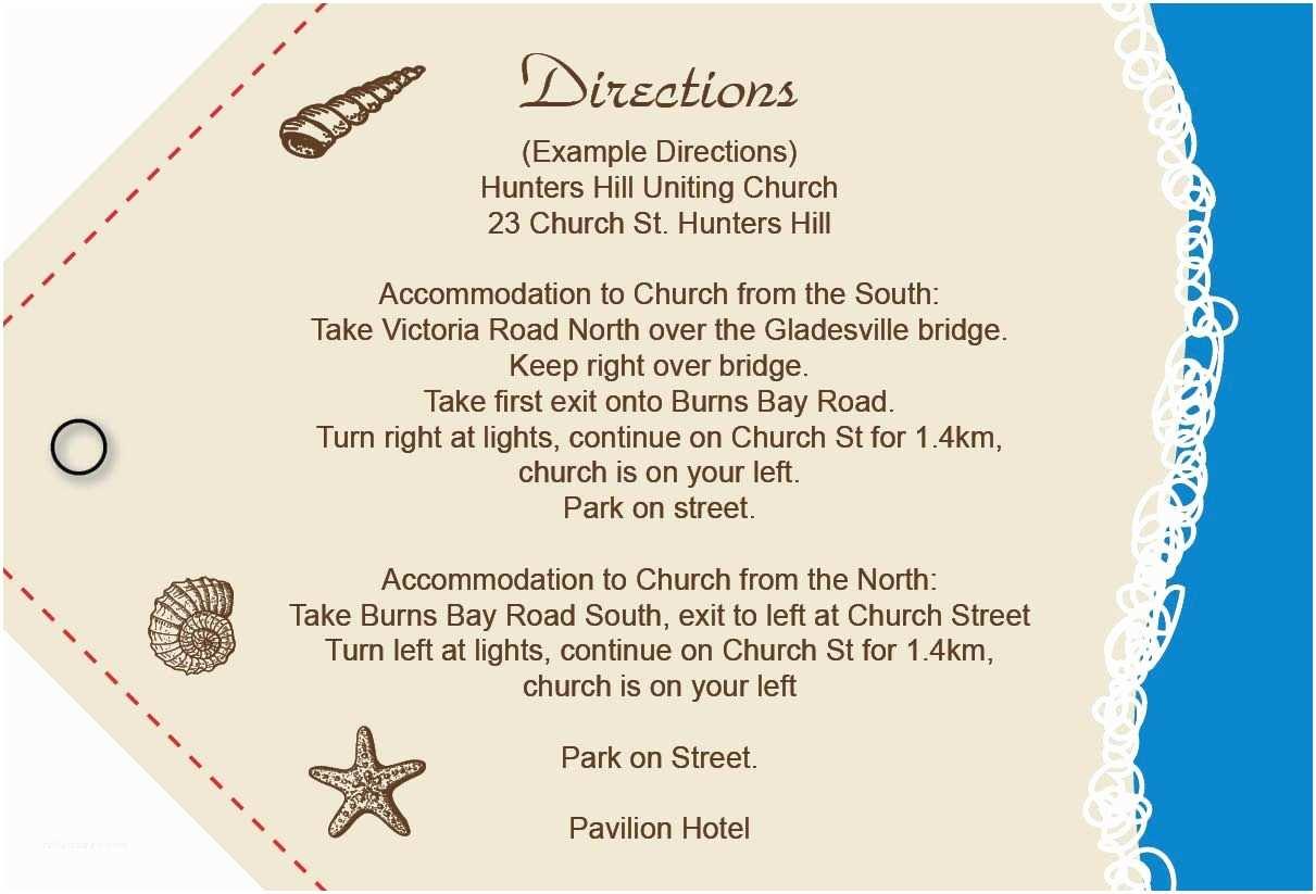 Wedding Invite Directions Template Wedding Invitation Directions Card Wedding Invitation