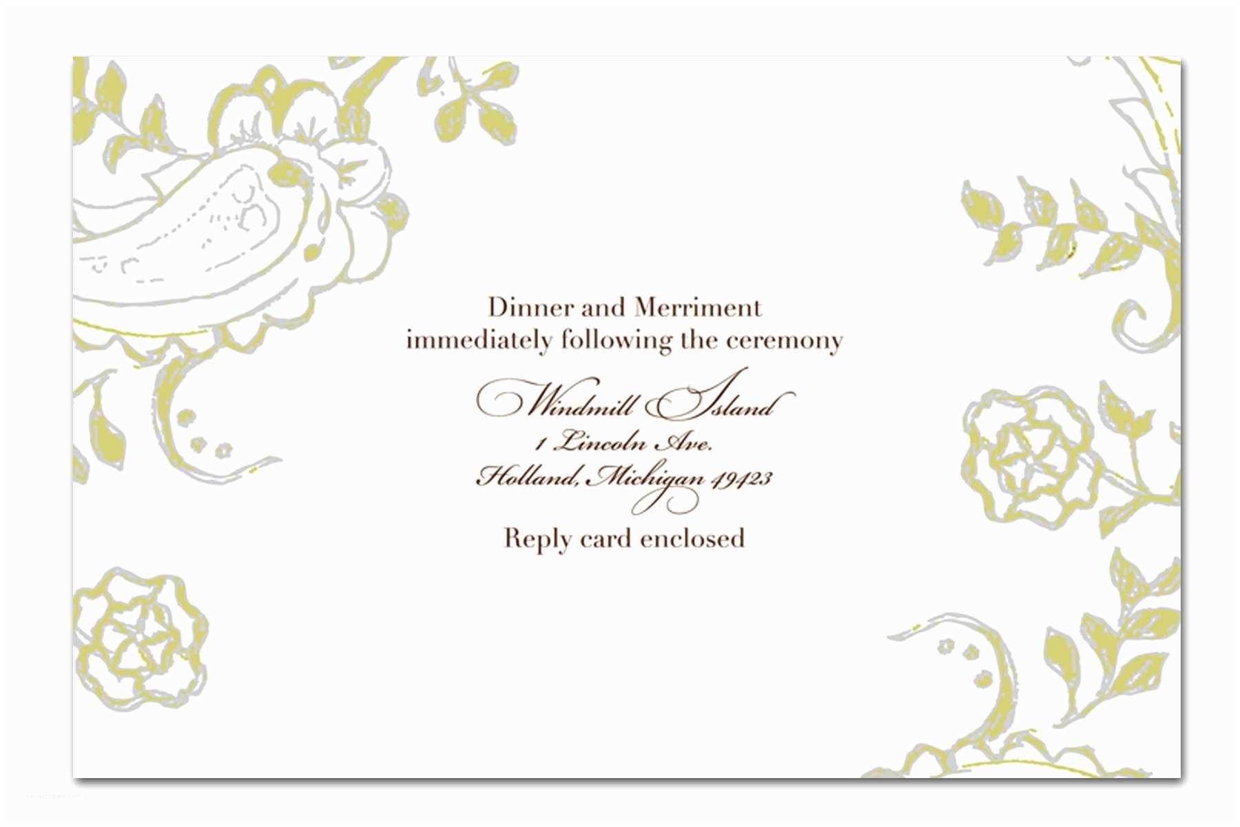 Wedding Invite Directions Template Wedding Invitation Wording Wedding Invitation Templates