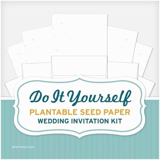 Wedding Invite Kits Do Yourself Do It Yourself Plantable Seed Paper Wedding Invitation Kit
