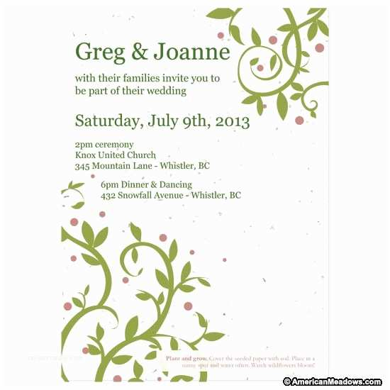 Wedding Invite Kits Do Yourself Do It Yourself Seed Wedding Invitation Kit American
