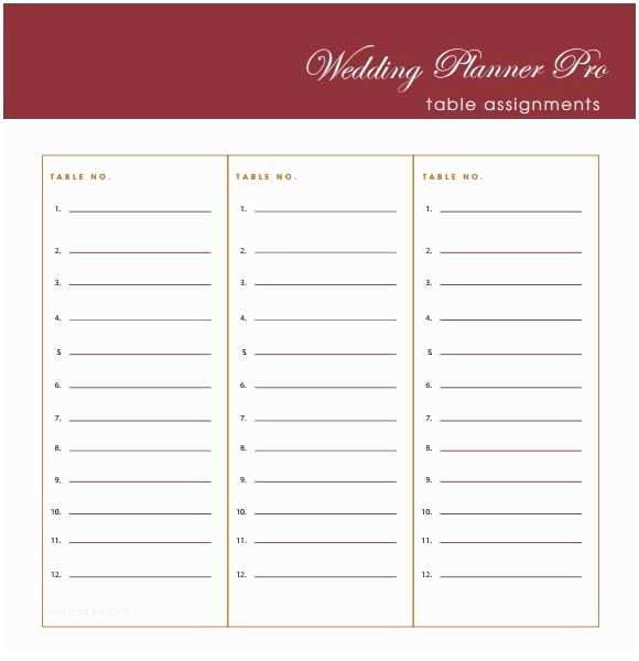 Wedding Invite List Template 6 Free Wedding Guest List Templates Excel Pdf formats