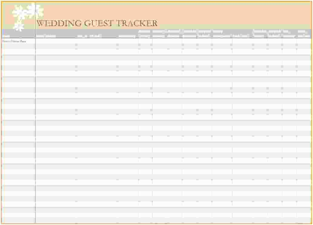 Wedding Invite Spreadsheet Wedding Guest List Excel Invitation Tracker Jp Sample