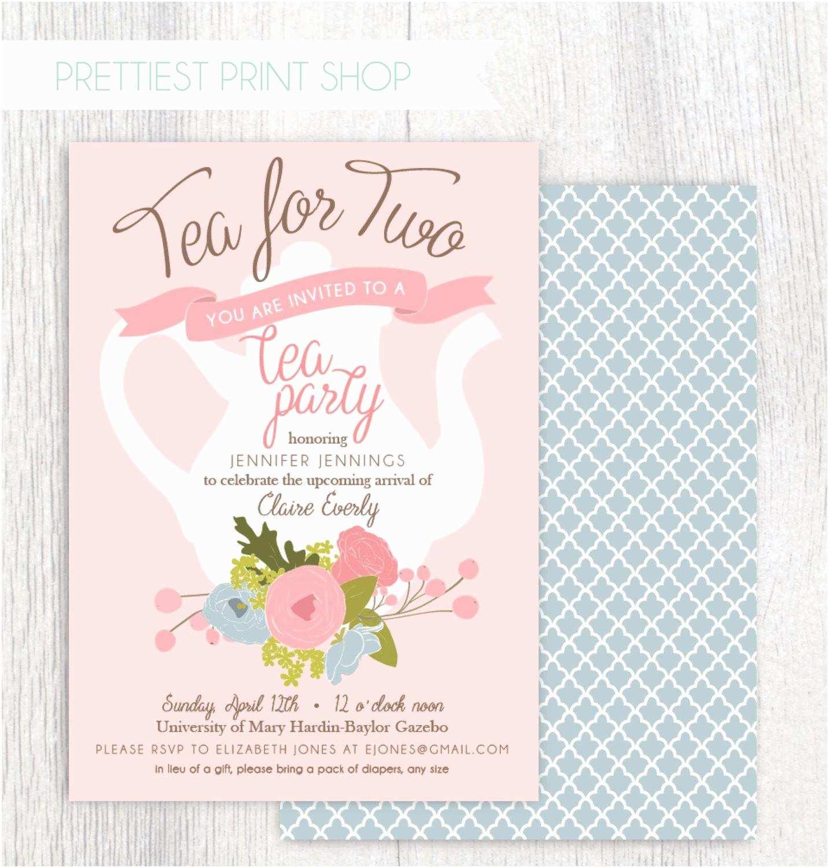 Wedding Party Invitations Bridal Shower Tea Party Invitations