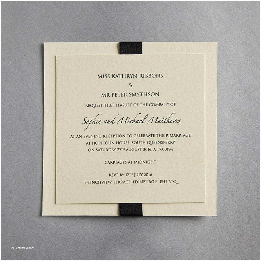 Wedding Party Invitations Elegance Wedding Invitation by Twenty Seven