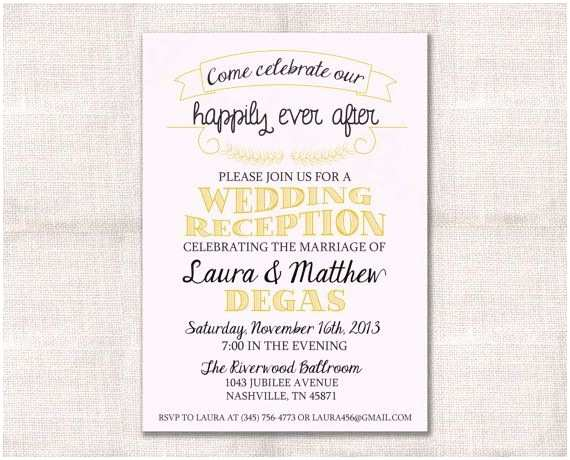 Wedding Party Invitations Reception Only Wedding Invites Programs