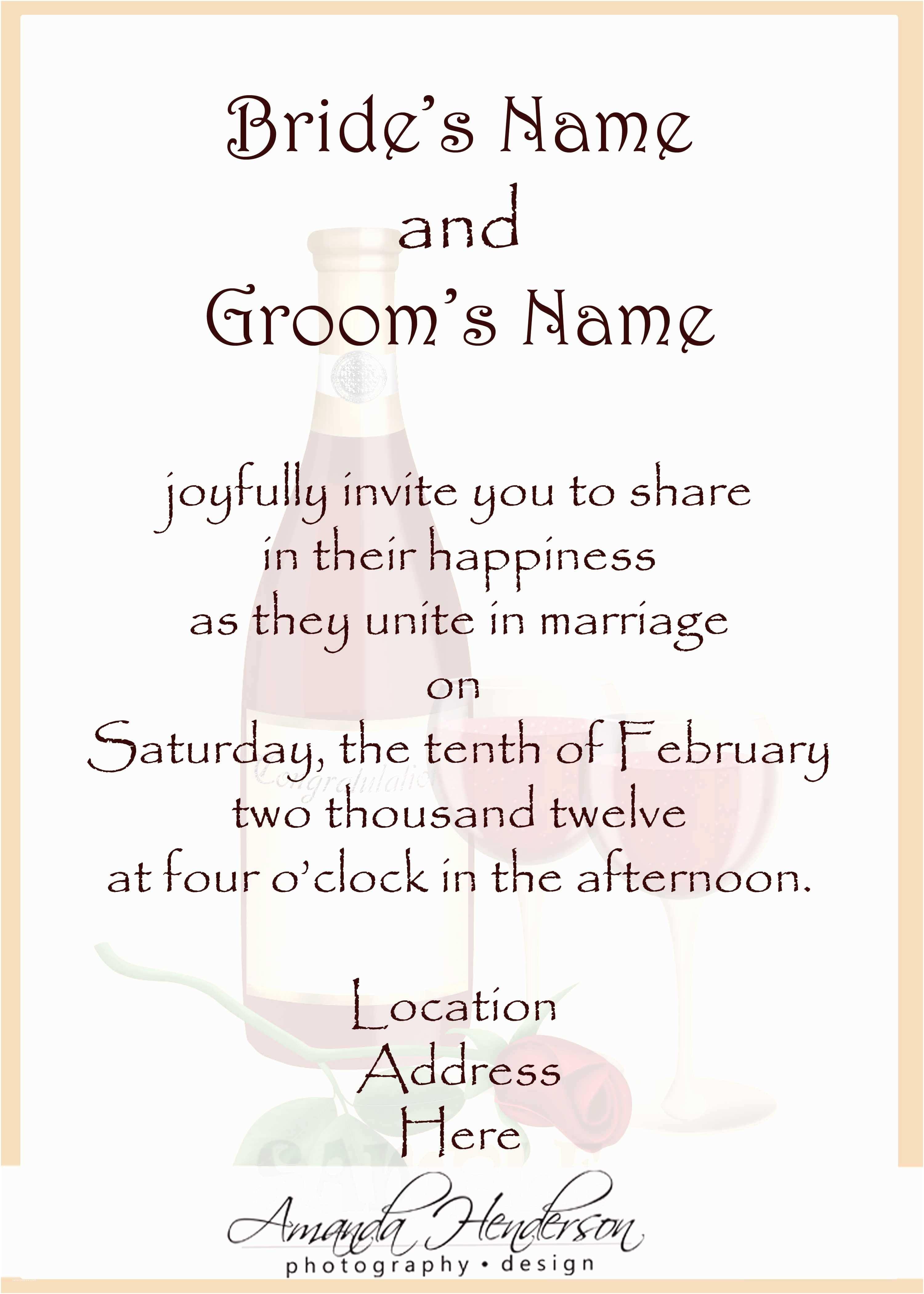 Wedding Party Invitations Wedding Invitation Wording Samples
