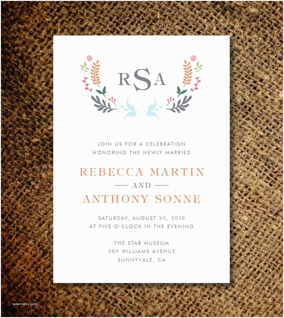 Wedding Reception Invitation Quotes Invitation Wording for Party after Wedding Choice Image