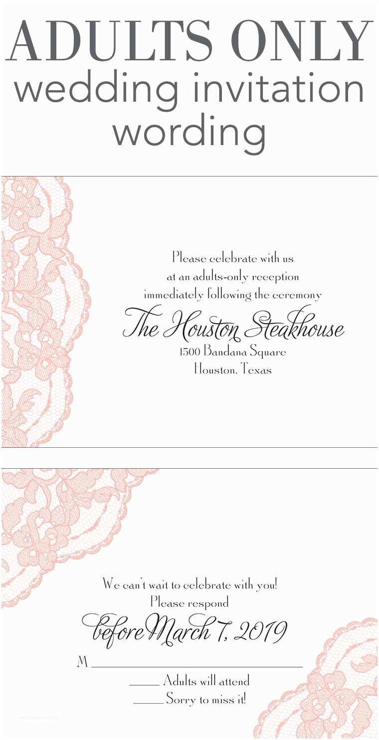 Wedding Reception Invitation Wording Adults Ly Wedding Invitation Wording