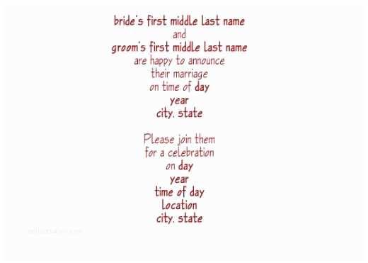 Wedding Reception Invitation Wording All About Wedding Post Wedding Reception Wording