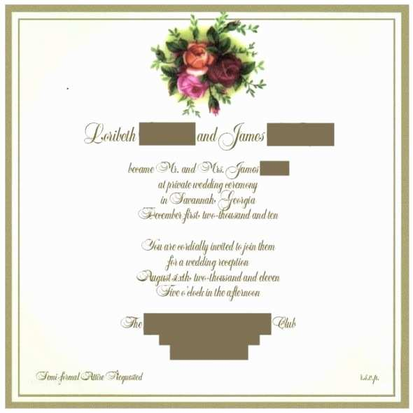 Wedding Reception Invitation Wording Already Married Invitation Wording Advice