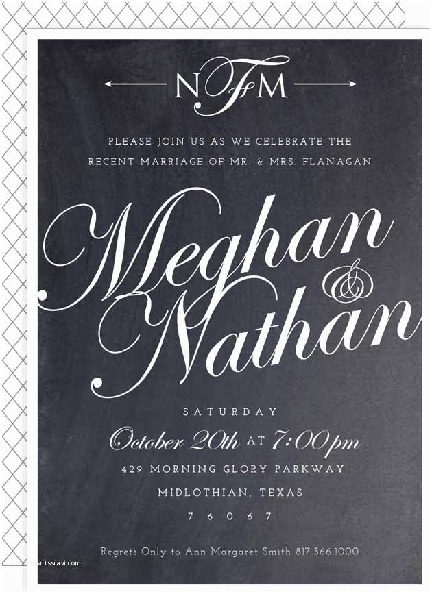Wedding Reception Invitation Wording Already Married Most Favorite Post Wedding Reception Invitations