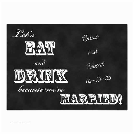 Wedding Reception Invitation Wording Already Married Post Wedding Reception Invitation Chalkboard