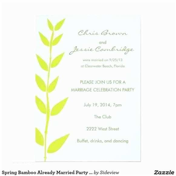 Wedding Reception Invitation Wording Already Married Rhbatempo format Image Collections Rhtherapyboxinfo