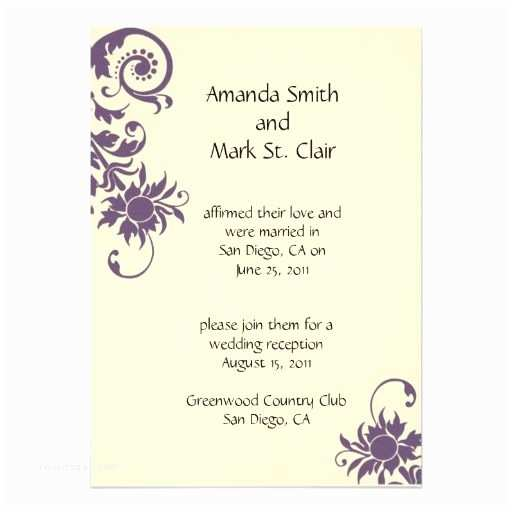 Wedding Reception Invitation Wording Already Married Wedding Invitation Wording Wedding Invitation Wording
