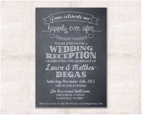 Wedding Reception Invitation Wording Already Married Wedding Reception Celebration after Party Invitation