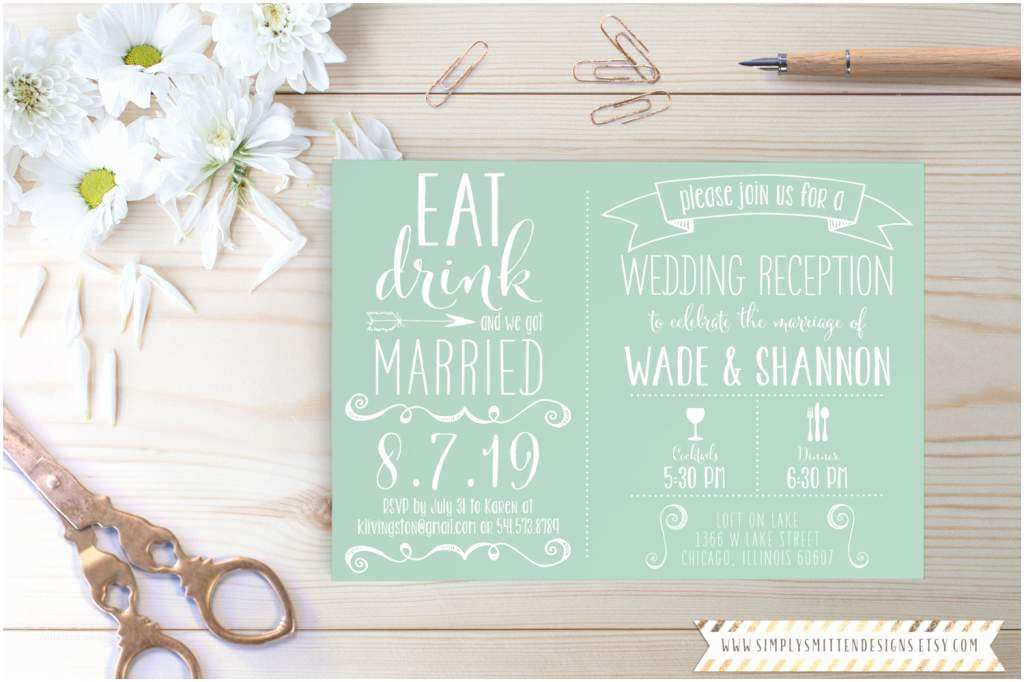 Wedding Reception Invitation Wording Already Married Wedding Reception Invitation Wording