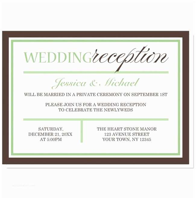 Wedding Reception Invitation Wording Already Married Wedding Reception Invitations Wording