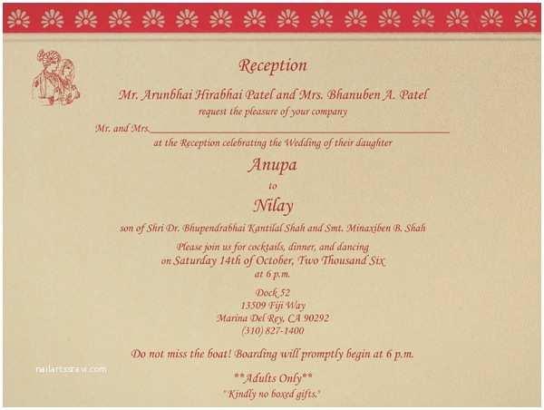 Wedding Reception Invitation Wording Indian Wedding Invitation Wording Template Shaadi Bazaar
