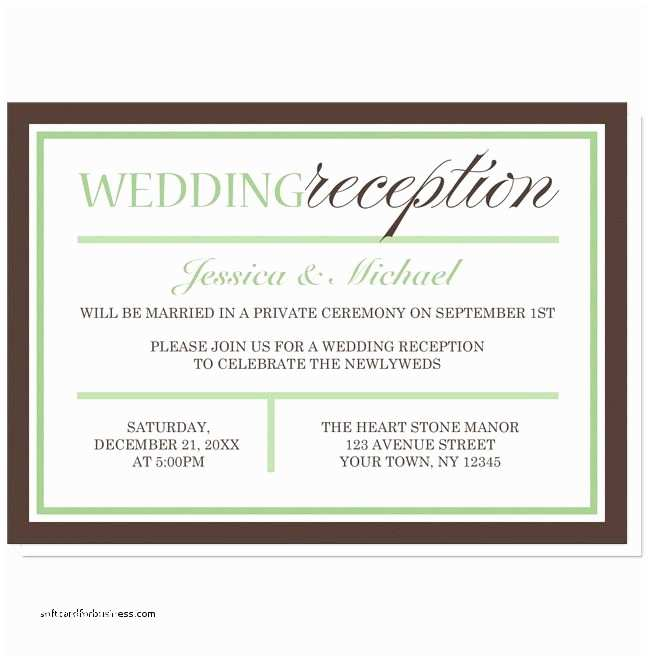 Wedding Reception Invitation Wording Wedding Invitation Elegant Wedding Reception Invitation