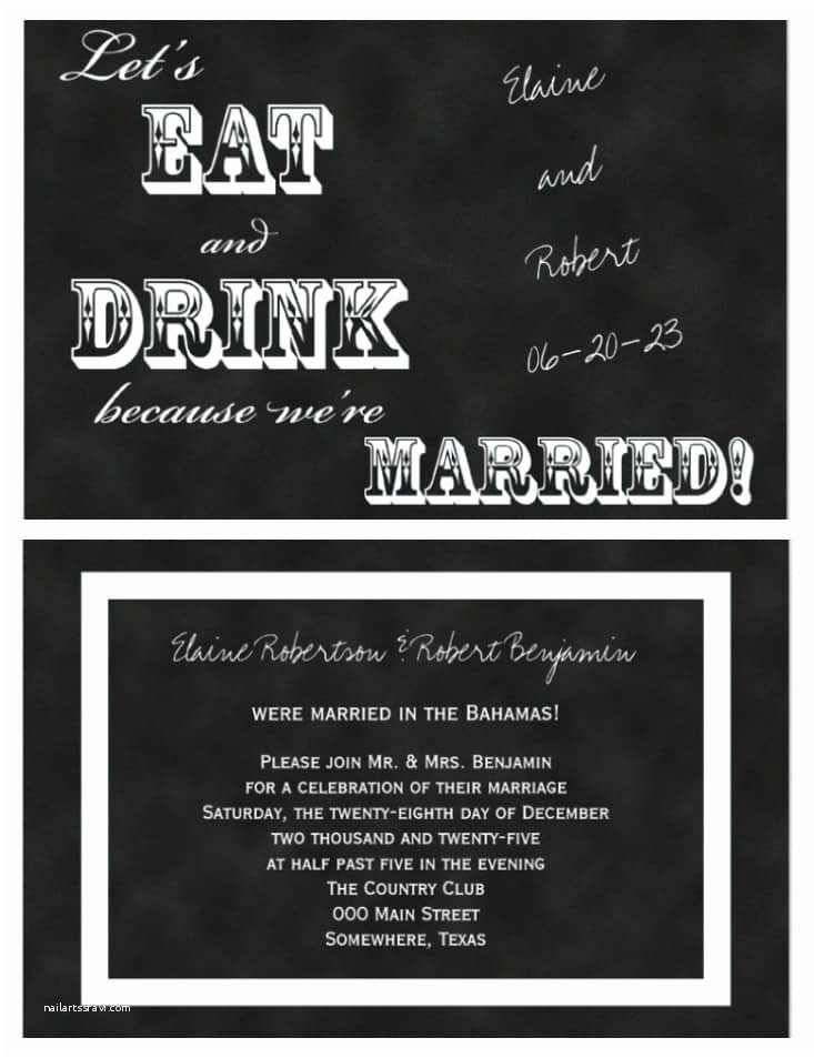 Wedding Reception Invitations 21 Beautiful at Home Wedding Reception Invitations