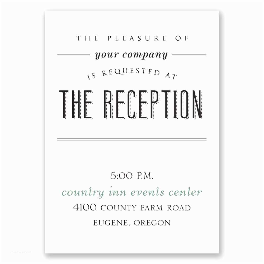 Wedding Reception Invitations A Wedding Celebration Reception Card