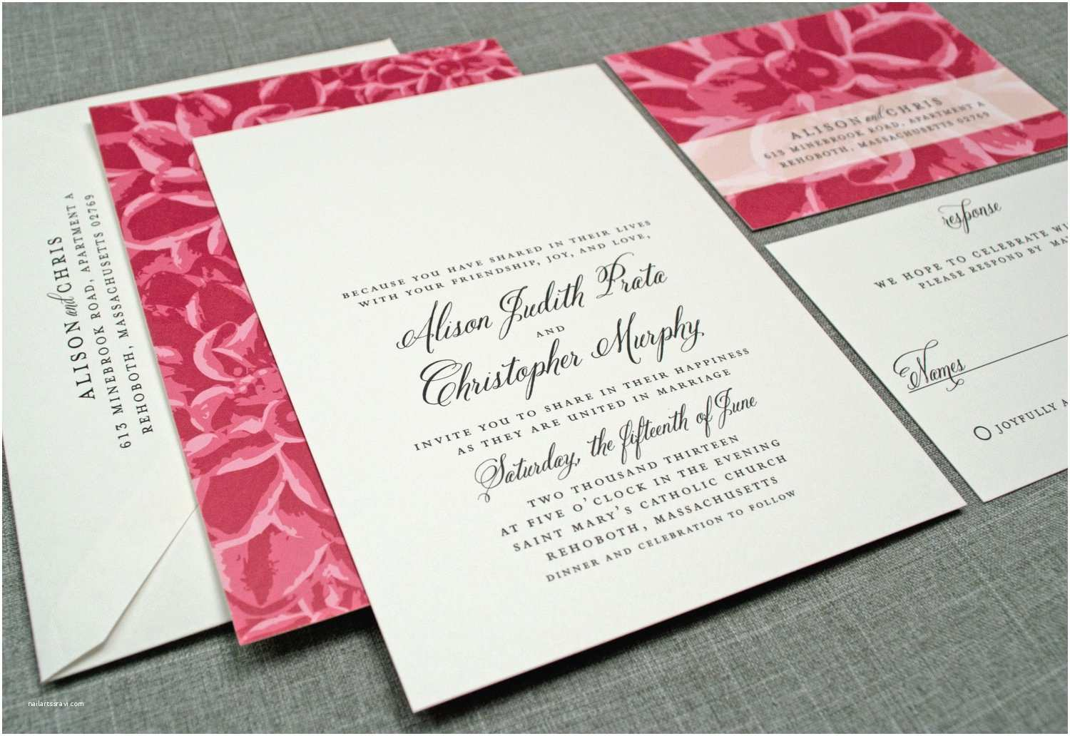 Wedding Reception Invitations Elegant Wedding Invitations Floral Print