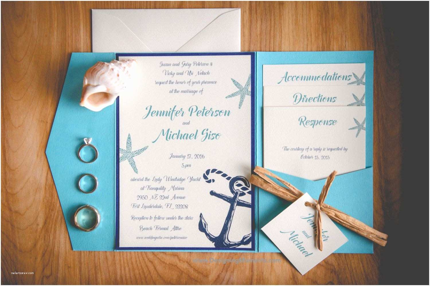 Wedding Reception Invitations Invitation Card Beach themed Wedding Invitation Invite