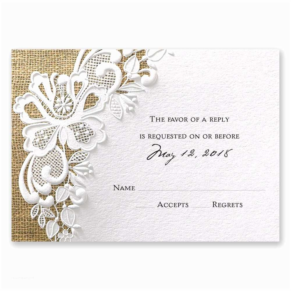 Wedding Reception Invitations Lacy Dream Response Card