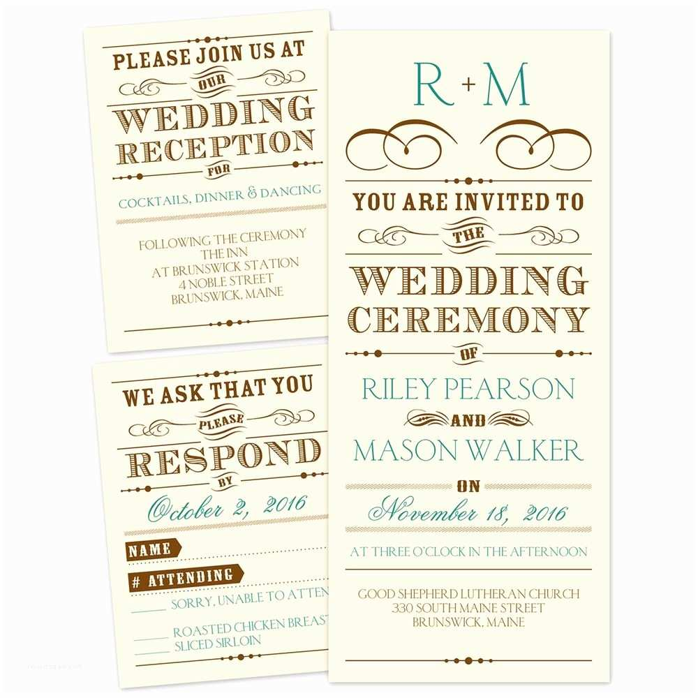 Wedding Reception Invitations Presenting Separate and Send Invitation