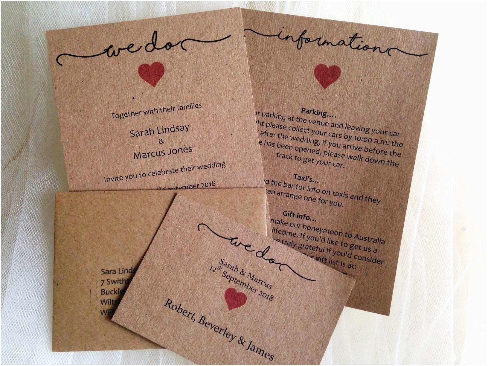 Wedding Reception Invitations Rustic Wedding Invitations
