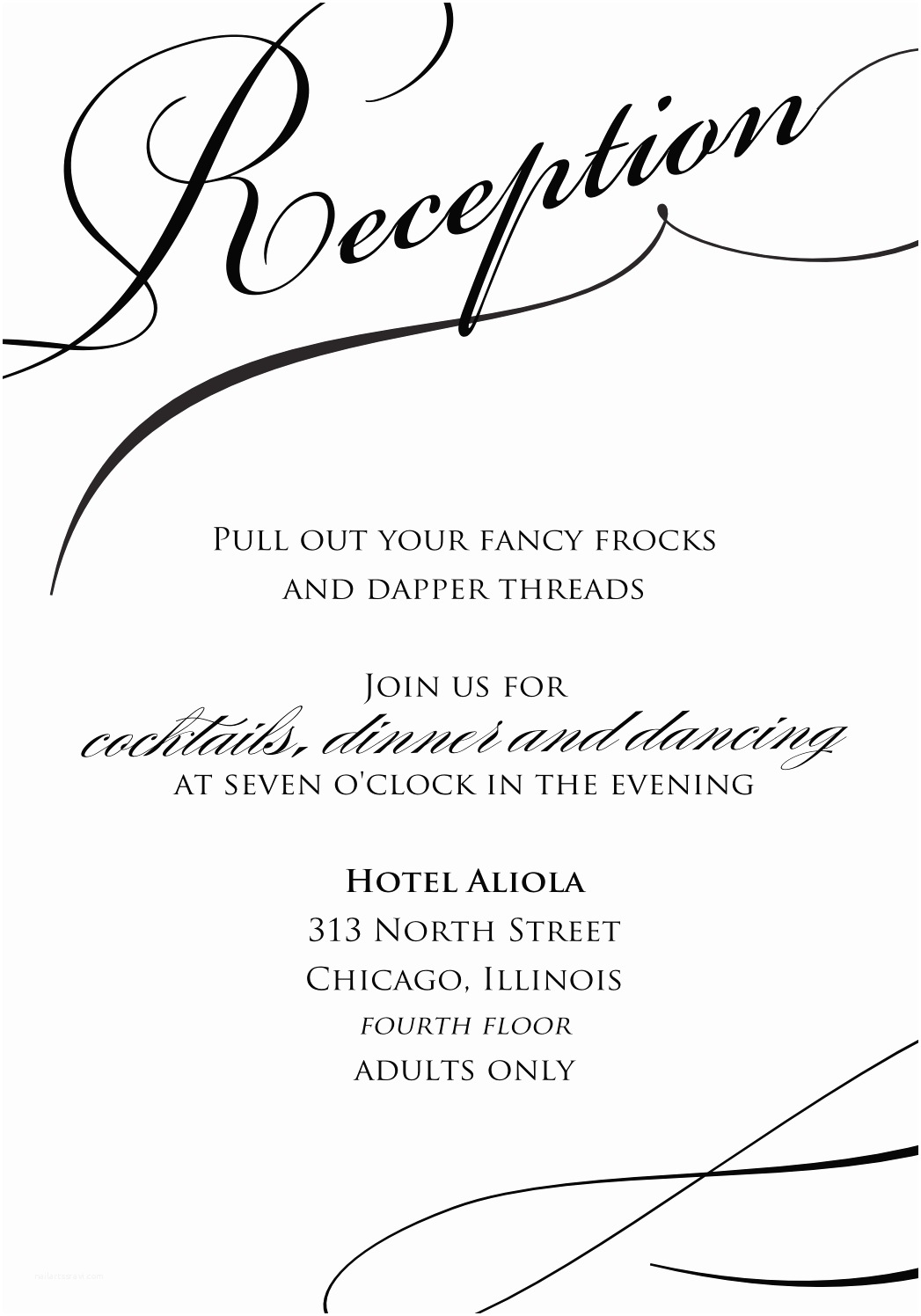 Wedding Reception Invitations Sample Wedding Reception Invitations